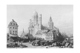 Mainz Cathedral, Engraved by J. Redaway, C.1850 Giclee Print by William Leighton Leitch