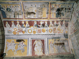 Apse Frescoes Depicting Scenes from the Passion of Christ and the Life of Saint Olalla, Including… Photographic Print