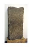 Urartu Civilization. Stele of Rusa II, King of Urartu Between around 680 BC and 639 BC. Cuneiform… Giclee Print