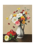 White Vase and Red Box Giclee Print by Felix Elie Tobeen