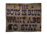 The Boys in Blue Want Abe to Stay, 1864 Giclee Print by Abraham Lincoln