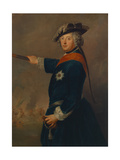 Frederick II, King of Prussia, as a General, C.1745 Giclee Print by Antoine Pesne