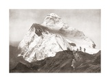 The Abruzzi Spur on the K2 Mountain. from the Year 1910 Illustrated Lámina giclée