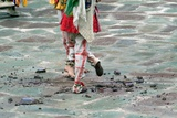 Two Dancers Scattering the Remains of an Effigy at the Annual Tshechu Festival, Hemis Monastery,… Photographic Print