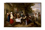 The Eve of the Battle of Edgehill, 1642, 1845 Giclee Print by Charles Landseer