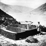 Drying Fuel for Exportation, Hubei Province, C.1870 Photographic Print by John Thomson