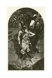 Wotan Takes Leave of Brunhild Giclee Print by Konrad Dielitz