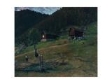 Vinje's Bithplace, Telemark, 1890 Giclee Print by Christian Eriksen Skredsvig