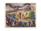The Opening of the Stockton and Darlington Railway, Macmillan Poster, 1825 Giclee Print by Norman Howard