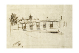 Old Battersea Bridge, C.1890 Giclee Print by Walter Greaves