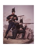 British Army Riflemen of the Early 19th Century: Soldier of the 60th Royal American Foot… Giclee Print by Charles Hamilton Smith