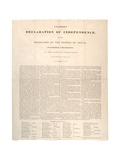 Texas Declaration of Independence: Unanimous Declaration of Independence, Printed by Baker and… Giclee Print