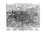 View of Rome, from Cosmographia Universalis, Edition of 1550 Giclee Print by Sebastian Munster