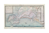 Atlas 131 H.Fol 71 Map of Part of Bas-Poitou and the Ile De Noirmoutier, 1703 Giclee Print by Claude Masse