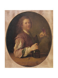 Self Portrait of the Artist Drinking, 1724 Giclée-tryk af Jean-alexis Grimou