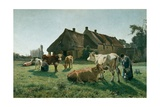 Une Forme a Venoix, 1881 Giclee Print by Christian Eriksen Skredsvig