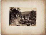 Albumen Print: Effect of Explosion of Shell, Near Fredericksburg, Va., C.1862 Photographic Print by Andrew Joseph Russell
