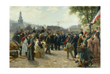 Arrival of King Wilhelm I of Prussia in Saarbrücken on 9 August 1870, 1877 Giclee Print by Anton Alexander von Werner