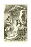Alfred Burning the Cakes Giclee Print by Gordon Frederick Browne