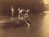Study for the Swimming Hole, 1883 Photographic Print by Thomas Cowperthwait Eakins