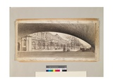 Somerset House Form under Waterloo Bridge, C.1910-14 Giclee Print by Thomas Raffles Davison