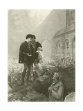 Hamlet and the Gravedigger Giclee Print by Pascal Adolphe Jean Dagnan-Bouveret