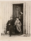 Photograph of Ulysses S. Grant, Julia and Jesse Grant at City Point, Va., 1865, Printed C.1940s Photographic Print