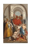 Saint Martin Healing a Possessed Man Giclee Print by Jacob Jordaens