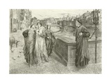 The First Meeting of Dante and Beatrice Giclee Print by Henry Holiday