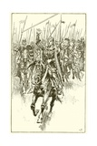 Normans Charging at the Battle of Hastings Giclee Print by Gordon Frederick Browne
