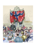 Fridtjof Nansen (1861-1930). Norwegian Explorer, Scientist, Diplomat, Humanitarian and Nobel… Giclee Print