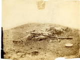 Dead Confederate Soldier Badly Mutilated in Field Near Rose Woods, Gettysburg, 5 July 1863 Photographic Print by Alexander Gardner