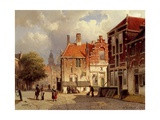 A Dutch Town Square, 1860 Giclee Print by Willem Koekkoek