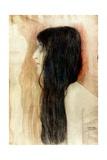 Girl with Long Hair, 1898-99 Giclée-Druck von Gustav Klimt
