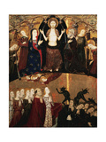 The Last Judgement, Altarpiece of Fray Martin De Alpartir, Convent of the Holy Sepulchre, Zaragoza Giclee Print by Jaume Serra