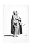 A French Jewish Man Dressed for Prayer, Illustration from Dictionnaire Historique De La Bible, 1722 Giclee Print by Augustin Calmet