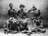 Victims of the Madras Famine, 1877 Photographic Print by Willoughby Wallace Hooper