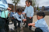 Ladakhi Schoolchildren, Shey, Ladakh, India Photographic Print