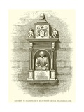 Monument to Shakespeare in Holy Trinity Church, Stratford-On-Avon Giclee Print by Henry Courtney Selous
