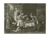 A Dinner at the House of Moliere at Anteuil Giclee Print by Gaston Melingue