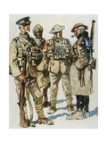 British Army Field Uniforms, 1914-18 Giclee Print by E. Dobrich