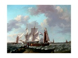 Ships Near the Coast, 1831 Giclee Print by Johannes Hermanus Koekkoek