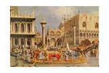 Return of the Bucintoro on Ascension Day (Detail) Giclee Print by  Canaletto