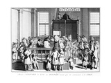 Showing the Law to the People in the Synagogue before Commencing the Reading, 1725 Giclee Print by Bernard Picart