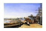 Shipyard in Honfleur, C.1823 Giclee Print by Jean-Baptiste-Camille Corot