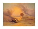 A Caravan Caught in the Sinum Wind Near Gizah Giclee Print by Johann Jakob Frey