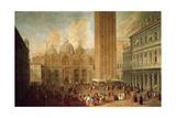 Piazza San Marco, Venice, C.1722 Giclee Print by Luca Carlevaris