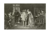 Connoisseurs at Rembrandt's Studio Giclee Print by Adolphe Alexandre Lesrel