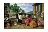 Cristo en casa de Marta y María Lámina giclée por Jan Brueghel the Younger