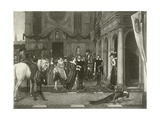Marie De Medici at the House of Rubens Giclee Print by Florent Willems